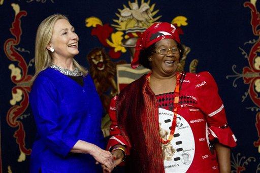Hillary Rodham Clinton, Joyce Banda