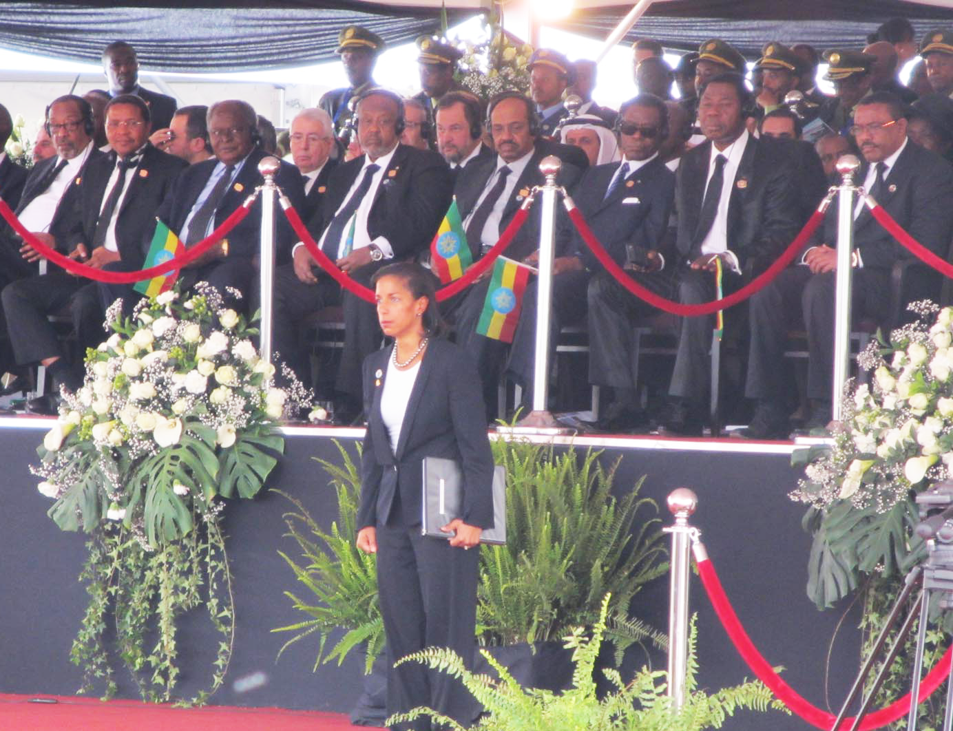 Rice at Zenawi's Funeral