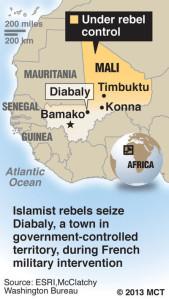 Mali under rebel control