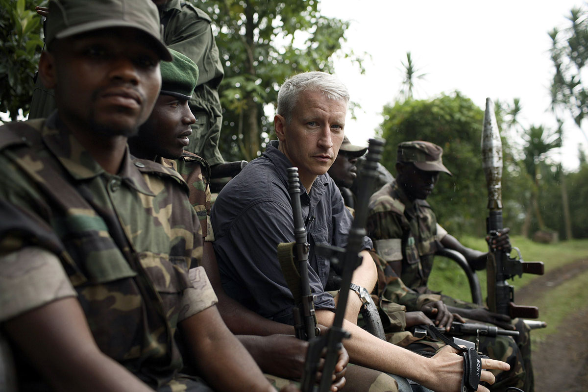A scene from Anderson Cooper's coverage of the Congo.