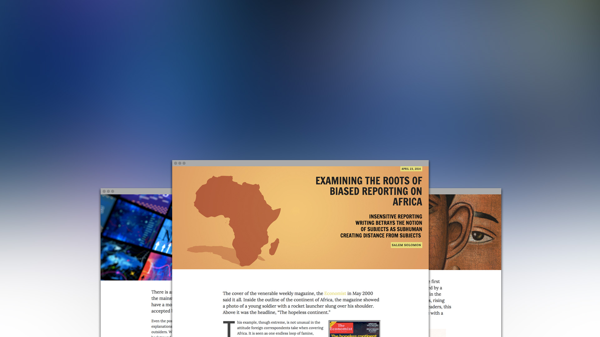 Welcome to the Newly Designed Africa-Talks.com